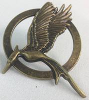 The Hunger Games Mockingjay Bronze Metal Pin