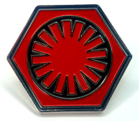 FIRST ORDER - Star Wars Movie Series Logo - UK Imported Enamel Lapel Pin