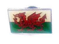 Welsh Wales Flag - UK Imported Enamel Pin - United Kingdom - England