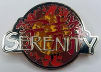 SERENITY Movie Logo (FIREFLY TV Series) - Large Enamel Pin - Joss Whedon