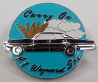 "SUPERNATURAL TV Series Enamel Lapel Pin - ""Carry On My Wayward Son"""