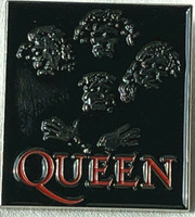 QUEEN II Album Rock Band (Mercury - May - Taylor - Deacan) UK Imported Lapel Pin