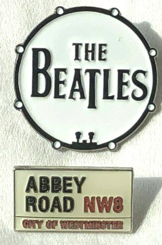 BEATLES Rock Band  -UK Imported Lapel Pins - Set of 2 (Lennon - McCartney - Harrison - Starr)