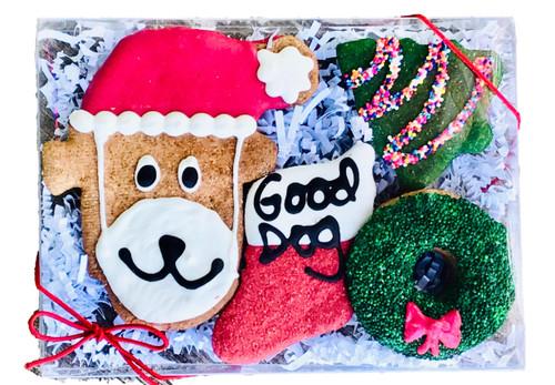 Santa Dog Gift Box