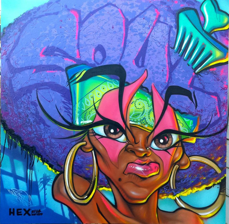 "5FT X 5FT ""SOUTH CENTRAL SOUL SISTA"" CANVAS BY HEX"