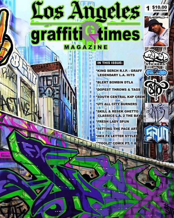 LOS ANGELES GRAFFITI TIMES MAGAZINE VOL 1