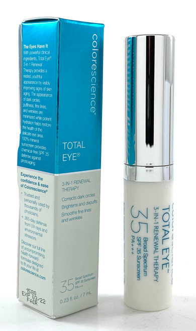 Colorescience Total Eye 3-in-1 Renewal Therapy SPF 35 FAIR - 0.23 Oz.