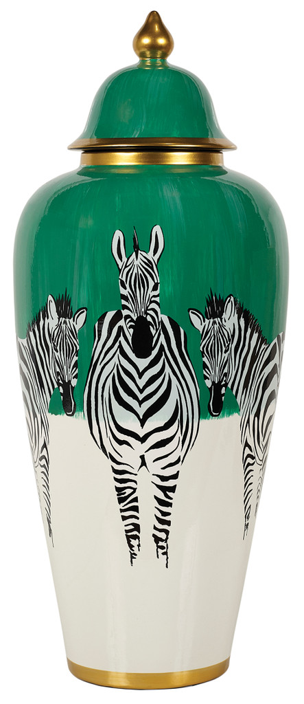 Zebra Jar Large (MY077)