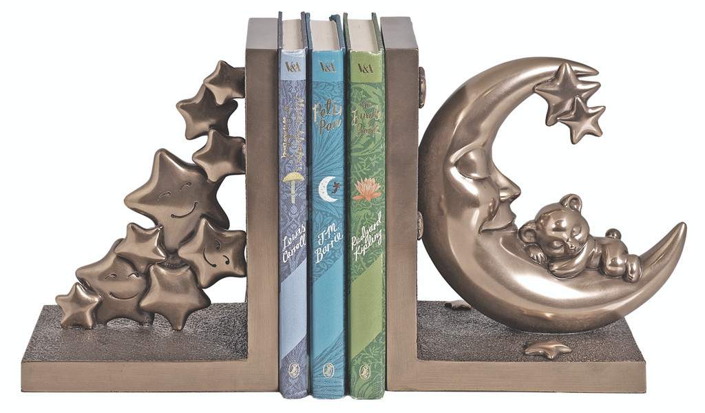 Moon and Teddy Set of Bookends (SS026)