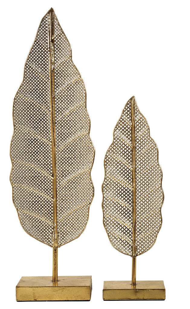 Leaf Sculpture 1 Set/ 2 - FUZ042