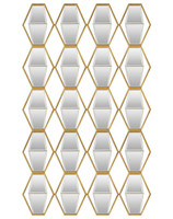 Jillian Mirrored Wall Decor - 4151