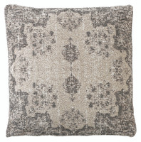 Jacquard Woven Cushion Grey Natural - RC029 Set of 2