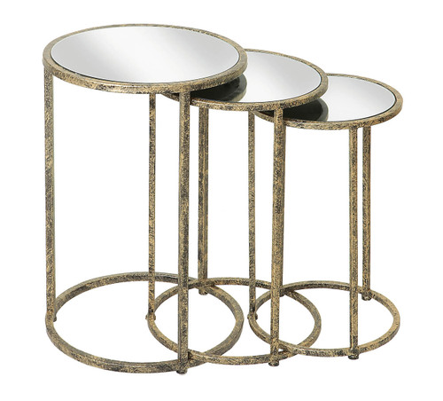 Mirror Top Nest of Tables - Set of 3