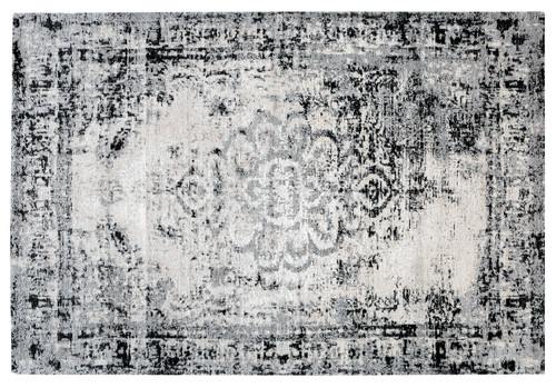 Jacquard Woven Rug Grey/Black - RC008 No return or exchange on floor rugs