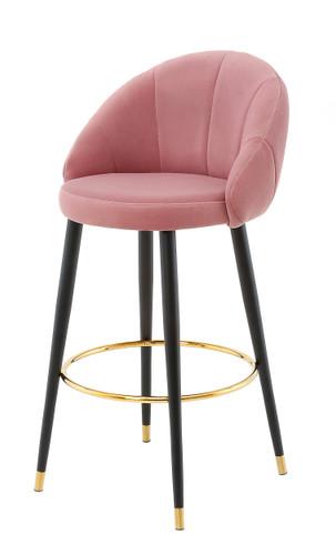 Ashley Highback Stool (Pink) - EHM010