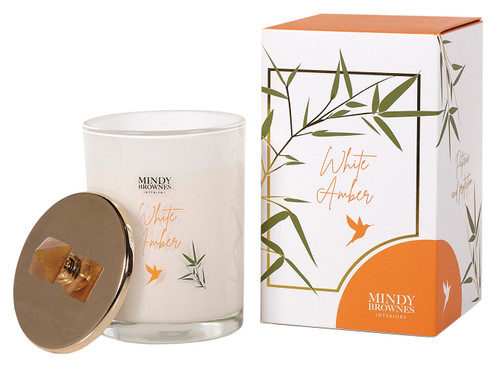 White Amber Scented Candle (ZEN05)