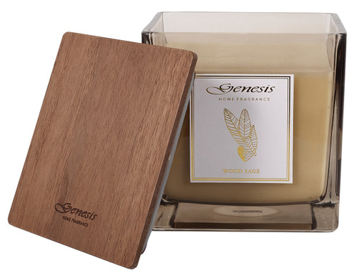 WOOD SAGE SQUARE X LARGE CANDLE - GEN008