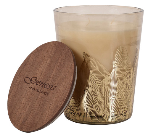 WOOD SAGE ROUND LARGE CANDLE - GEN011