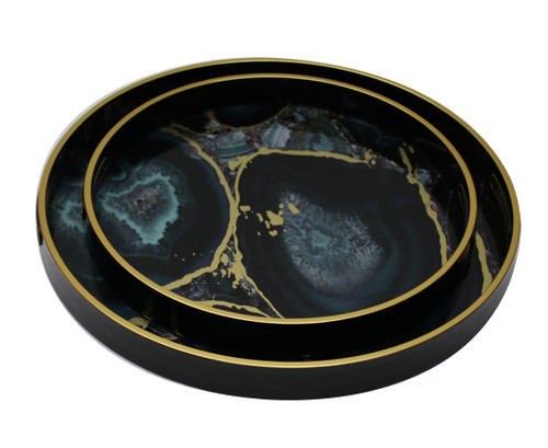 Serving Tray Set/2 (Midnight Glory) - FCH031