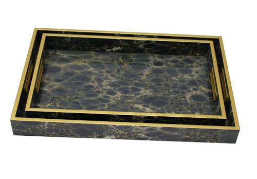 Serving Tray Set/2 (Deep Blue) - FCH032