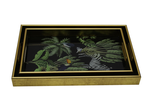 Serving Tray Set/2 (Zebra) - FCH034