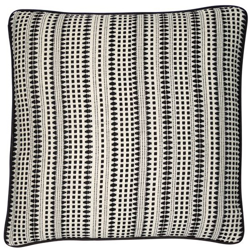 BLACK AND WHITE WOVEN LINEAR  45 X 45 - SCFP-ILLUSION