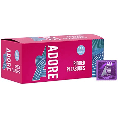 Adore Ribbed Pleasure Condoms Bulk Packs