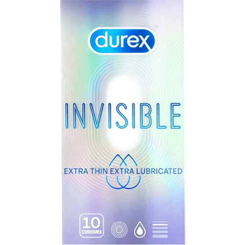 Durex Invisible Extra Thin Extra Lubricated
