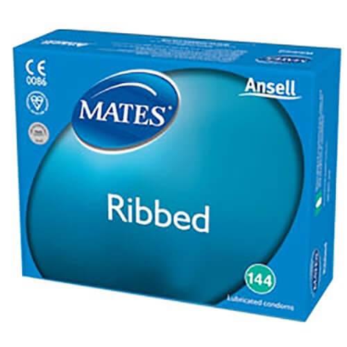 Mates Ribbed Condoms Bulk