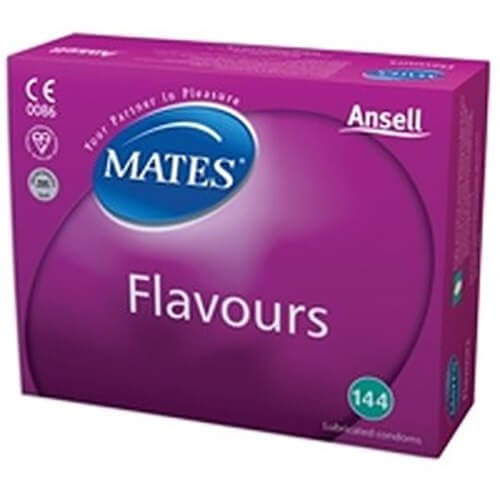 Mates Flavours Condoms Bulk Packs