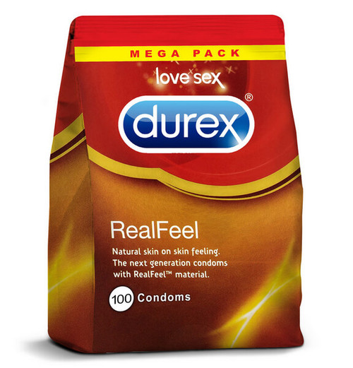 Durex Real Feel Condoms 100 Bulk Pack