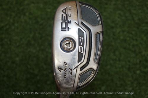 Lh Adams A4 Boxer Idea Tech 22 Degree 4 Hybrid Stiff Flex J136192-A Used Golf