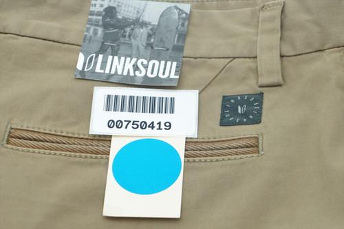 New  Linksoul Golf  Pants Mens Size  33 Khaki  243E