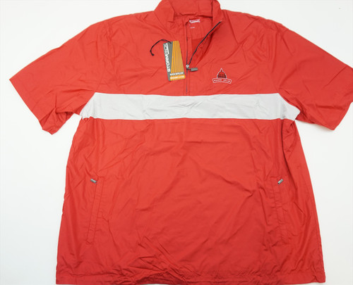 New Stormpack  Water Repellent 1/4Zip Golf Jacket Mens Xl Org/White Logo 264A