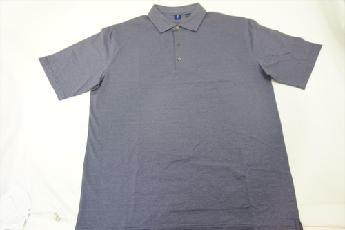 New FootJoy 1857 Golf Lisle Space Dyed Self Collar Polo Mens Large Grey 376A 00813972