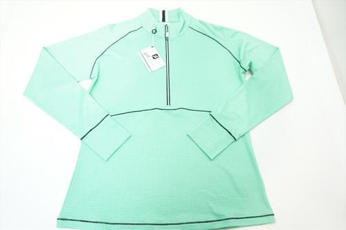 New FootJoy Tonal Dot Print Jersey Midlayer Pullover Size Medium  391C 821669