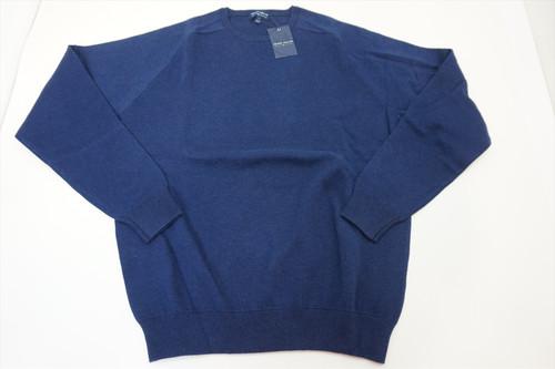 New Peter Millar CROWN Sweater Mens Medium NAVY Crewneck 2020 Spring 402A