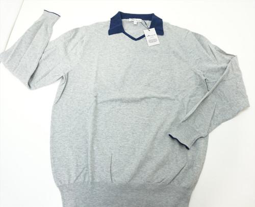 New Peter Millar CROWN SOFT Sweater Mens Medium GREY V-Neck 2020 Spring 401A