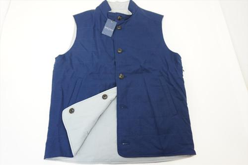 New Peter Millar STEALTH REVERSIBLE Vest Mens Size Medium NAVY 2020 Spring 403B