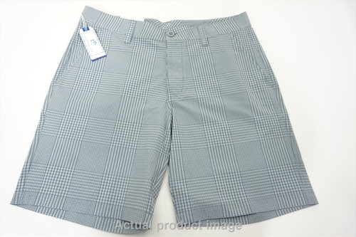 New Southern Tide Gingham Gulf Shorts Mens Size Medium Whale Grey 425A