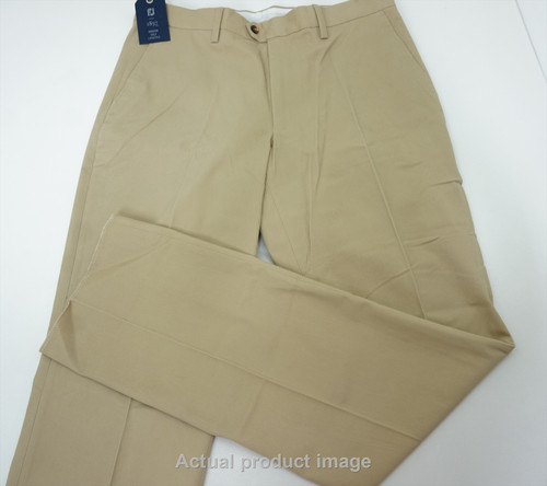 New FootJoy Golf 1857 Sueded Cotton Twil Pants Mens Size 34 Tan 448B 00845543
