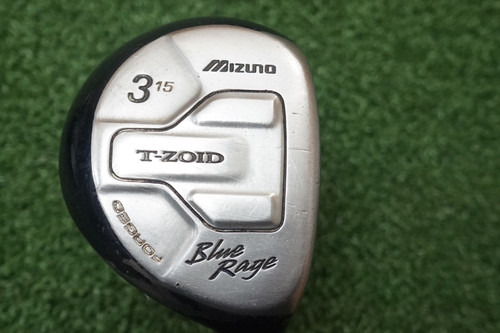 MIZUNO BLUE RAGE 15 DEGREE 3 Fairway WOOD REGULAR FLEX GRAPHITE 0648531