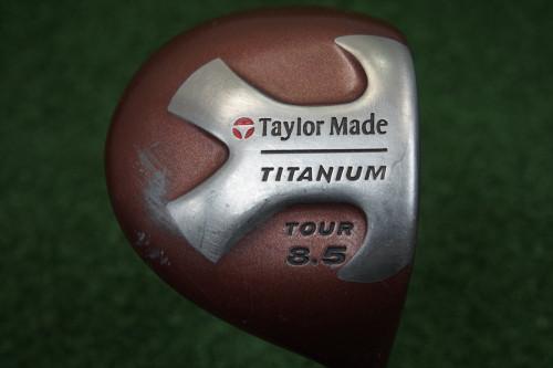 Taylormade Titanium Tour 8.5 Degree Driver Graphite Stiff Flex 233674-A Used
