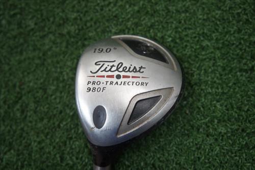 "LH Titleist 980F 19 Degree 5 Fairway Wood (-4"") Stiff Flex 233438-a Used Golf"