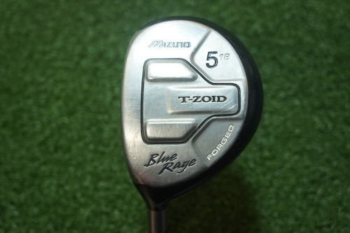 LH Mizuno T-Zoid Blue Rage 18 Degree 5 Fairway Wood Stiff Flex Graphite 402296