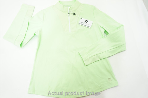 New FootJoy Golf 1/2 Zip Midlayer Pullover Womens Medium Sprout 477A 857796