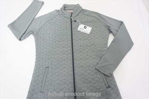 New FootJoy Golf Full Zip Jacket Womens Medium Grey 482A 00859032