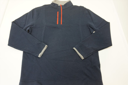 New FootJoy Golf 1857 1/4 Zip Sweater Pullover Mens Size Large Grey 388A 820444