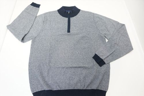New FootJoy Golf 1857 1/4 Zip Sweater Mens Size Large Grey 388A 00820447
