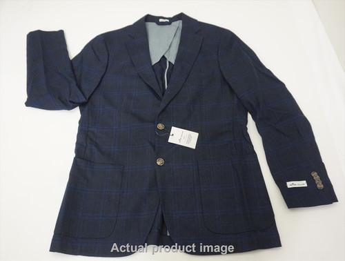 Peter Millar Fall Check Soft Blazer/ Sport Jacket Mens Medium Navy 484B 859716